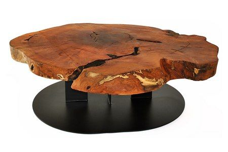 natural edge solid wood coffee table made with an algarrobo wood