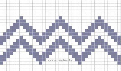 -Cada quadradinho pintado são 4 pontos altos, com intervalo de duas correntes. -Primerio monta-se as correntinhas. No caso do gráfico para o segui-lo você pode montar 113 correntinhas- números ímpares para croche de file, e começar o ponto alto na 8ª corrente, depois seguir o gráfico até o tamanho que desejar.