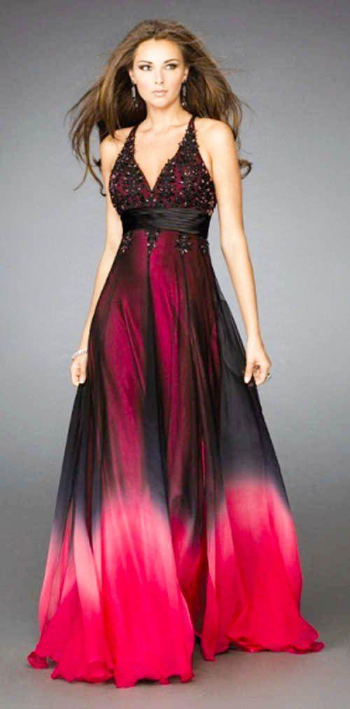 Red and Black Wedding Dresses | Photo Source: weddingdressesinfo.com