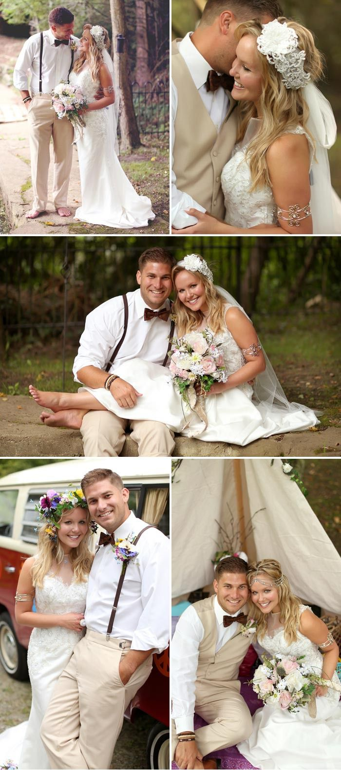 Boho Hochzeit Haarschmuck © Jasmine Rose Photography