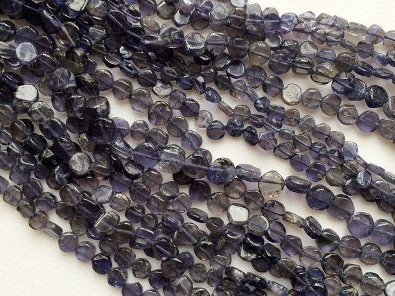 Iolite Beads Iolite Plain Coin Beads Iolite by gemsforjewels