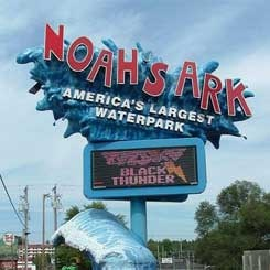"Wisconsin Dells, Wisconsin ""Noah's Ark"" - Largest outdoor waterpark in the United States"