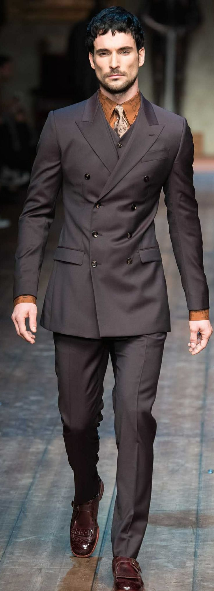 Dolce Gabbana FW 2014-2015 | toxido | Pinterest | Suit styles, Fashion and Sharp dressed man