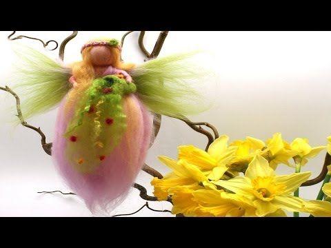 ▶ Filzanleitung zum Nassfilzen von Engel, Feen oder Elfen aus bunter Filzwolle - YouTube