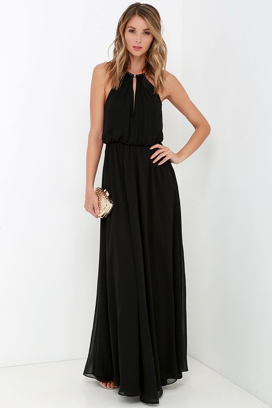 What a Night Black Maxi Dress at Lulus.com!