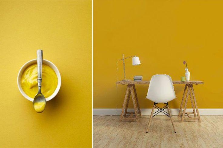 jaune moutarde dans déco 2016