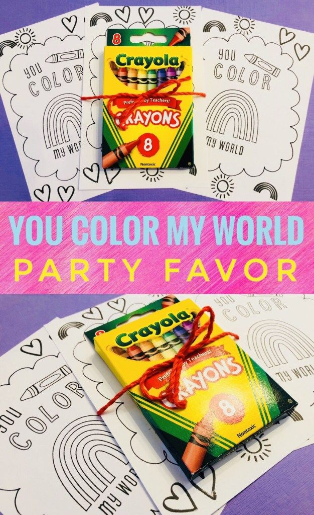 You Color My World Party Favor Glitter On A Dime Party Favors Pony Party Favors Book Party