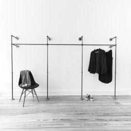 Superb Liebevoll in Hamburg handgefertigtes Rohrsystem f r offenen Kleiderschrank aus Stahlrohr Zum Aufh ngen deiner Kleidung