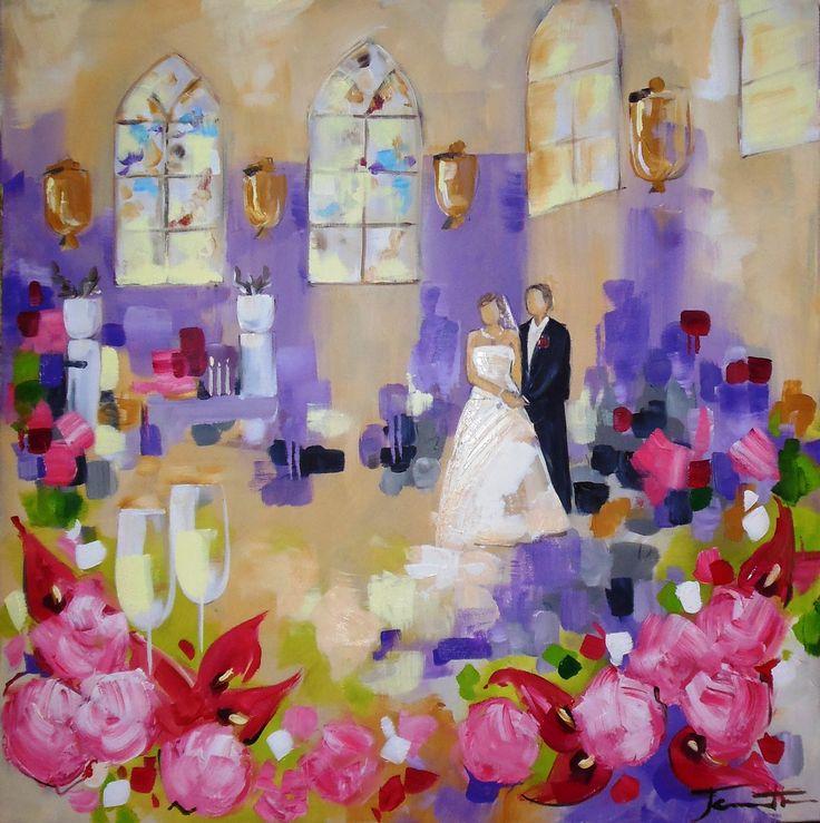 Mejores 38 imágenes de Huwelijks schilderij, bruiloft cadeau en ...