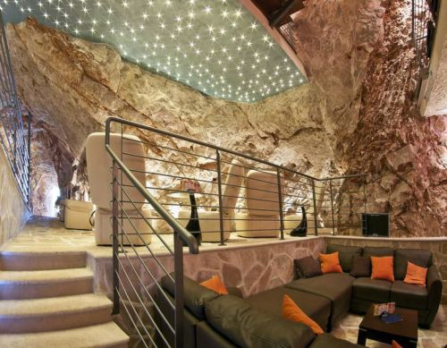 The Cave Bar of Hotel More in Dubrovnik, Croatia.