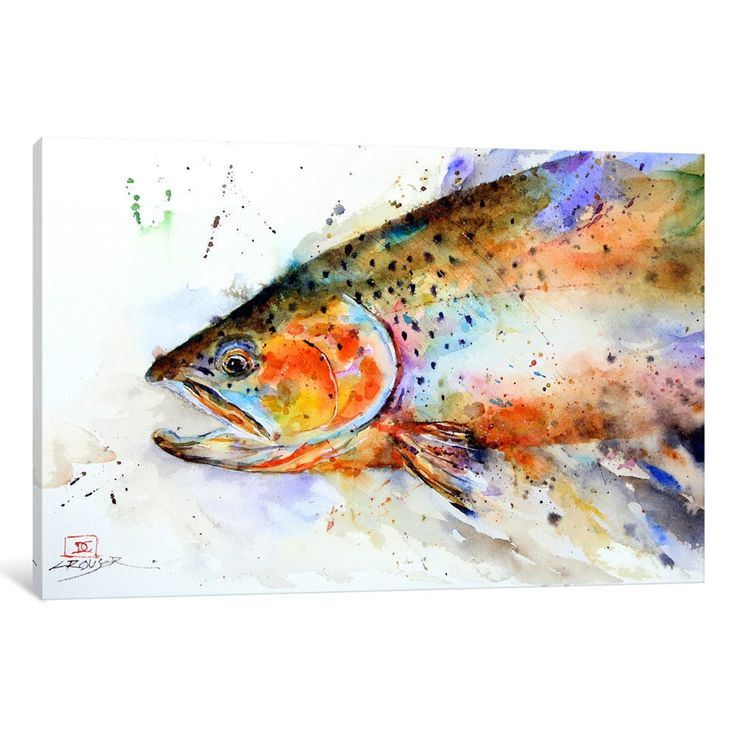 iCanvas Fish (Multi-Color) by Dean Crouser Canvas Print | Overstock.com Shopping - The Best Deals on Gallery Wrapped Canvas