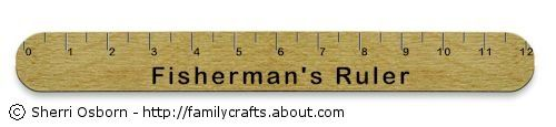 Fisherman's Ruler Craft: How to Make a Funny Fishing Ruler