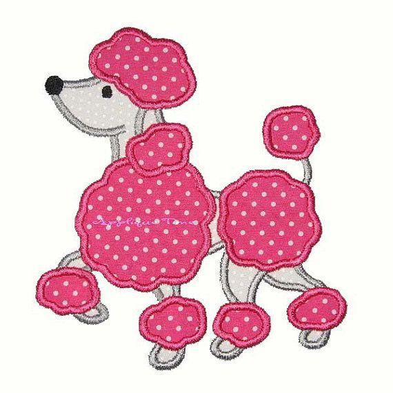 Instant Download Poodle Machine Embroidery por AppliqueTime en Etsy