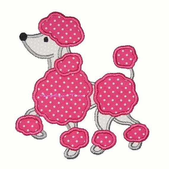 Here is a fun and easy french poodle for your applique needs. There are only 2…