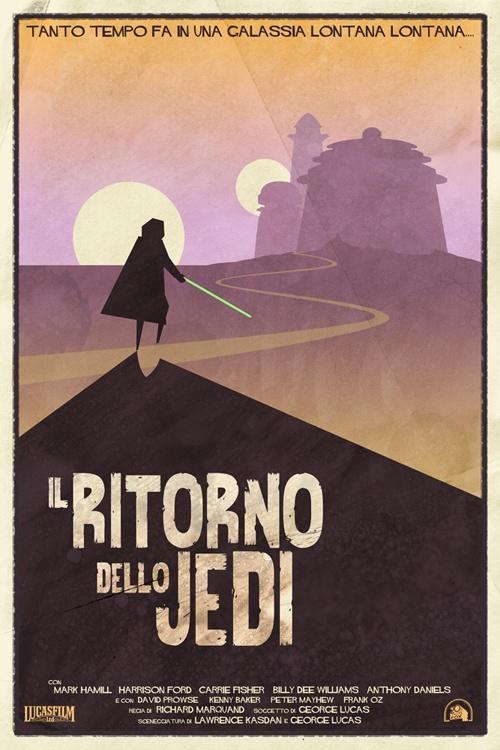 Y si Star Wars hubiera sido un spaghetti western: Episodio VI: Dello Jedi, Westerns, Stars, Movie Poster, Star Wars, Ritorno Dello, Starwars, The Return