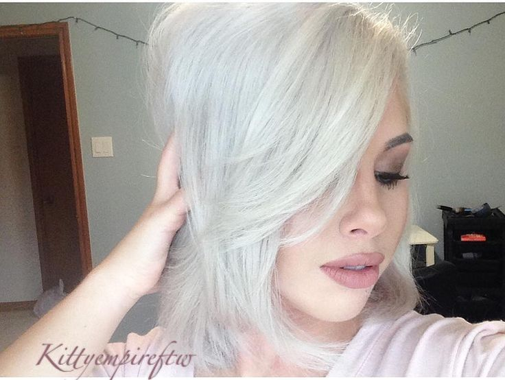 I found the perfect toner for white hair @kenraprofessional silver metallics in 10SM by kittyempireftw