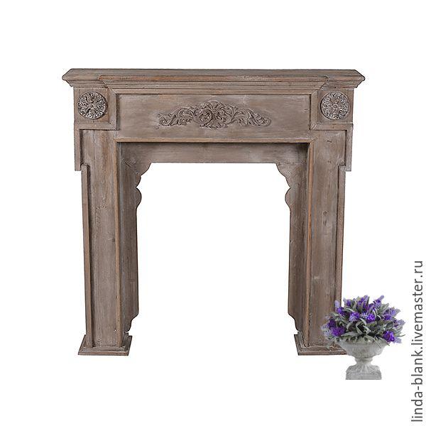 Купить Камин декоративный - коричневый, камин, каминный набор, портал, каминный портал, для дома и дачи