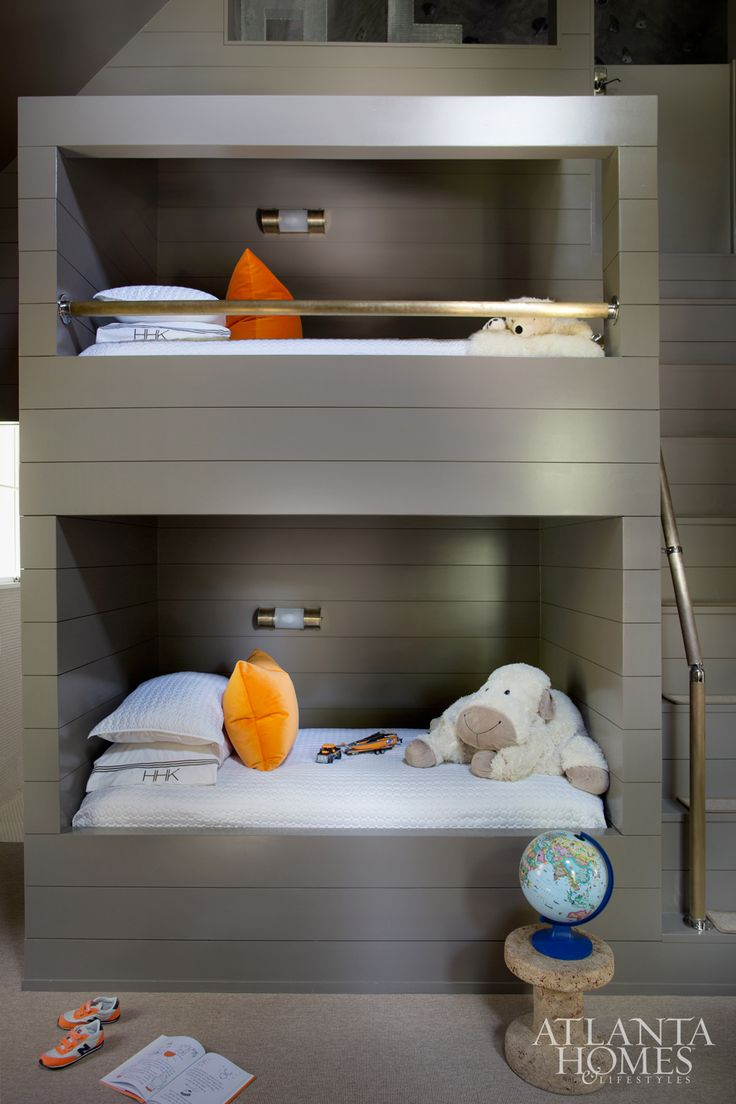 House Tour: Brookwood Hills - Design Chic- amazing builti in  bunk beds - love the paint color!