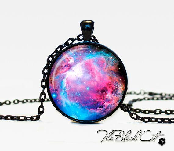Orion Nebula pendant Nebula jewelry by TheBlackCatPendants