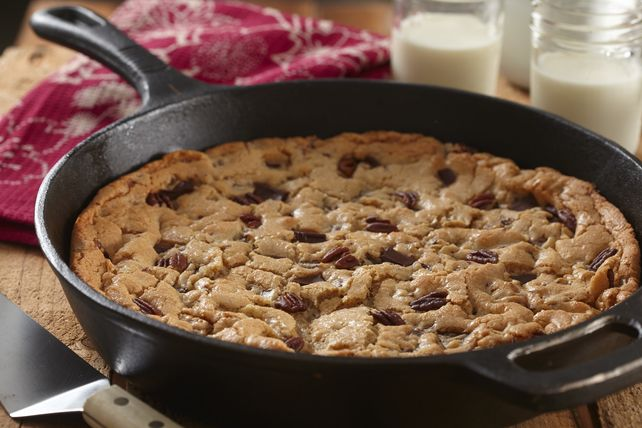 Enjoy a restaurant favorite at home with our cast-iron skillet cookie! You'll love how easy it is to make a Chocolate Chunk Cast-Iron Skillet Cookie.