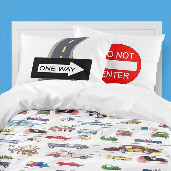 Boys Bedding Car Duvet Nursery Bedding Toddler Boy Bedding