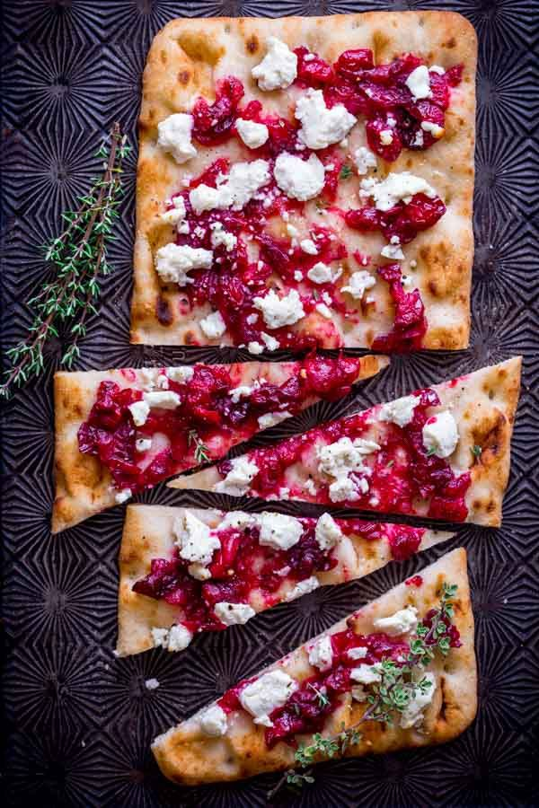 roasted cranberry and goat cheese flatbreads FoodBlogs.com