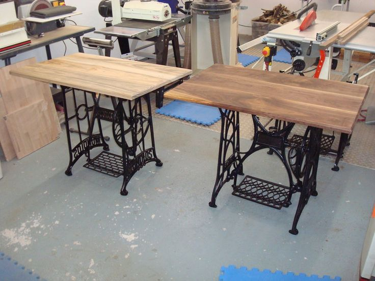 old sewing machine ideas | bought a few old treadle sewing machine tables  at an antique