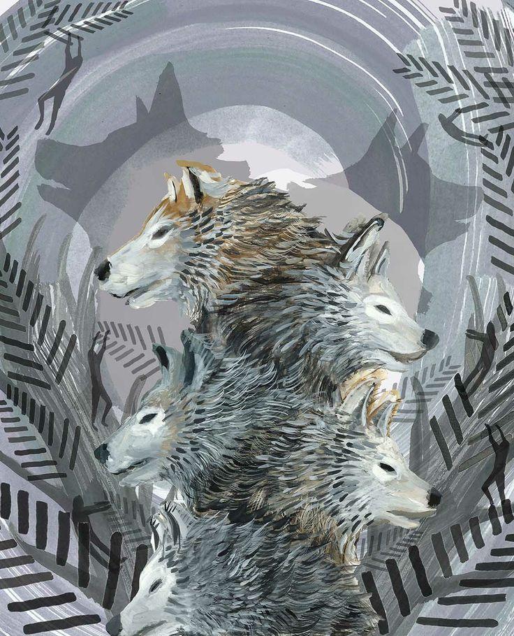Woodland Wolves www.lucyburns.blogspot.co.uk