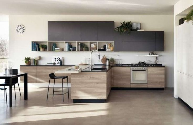 Cucine Moderne Con Penisola Veneta Cucine   Cerca Con Google   Bucătării    Pinterest   Kitchens, Kitchen Design And Kitchen Colors