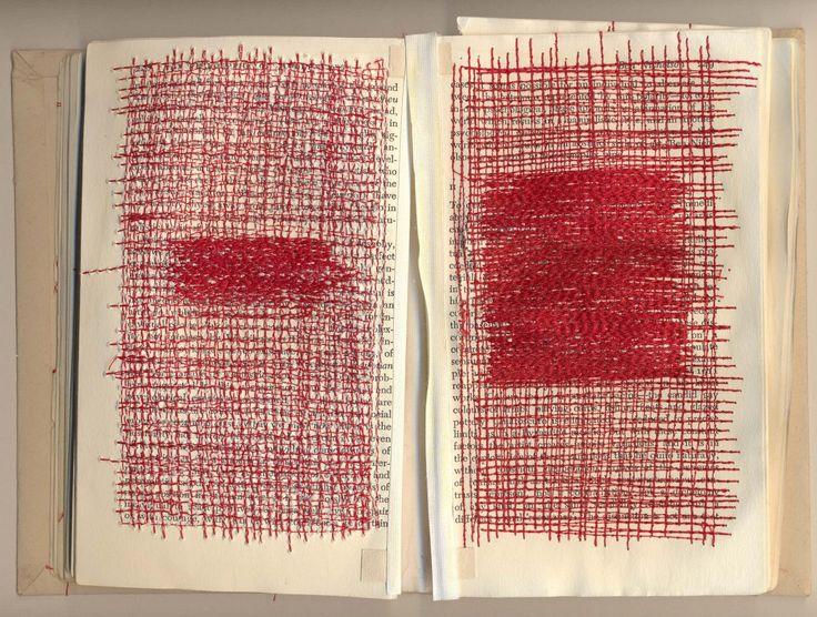 Altered Book: Sewn : Debra Broz
