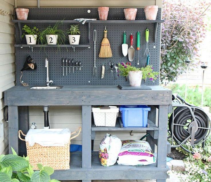 Genius und Low Budget Palettengartenbank für Ihren schönen Außenbereich Nr. 40