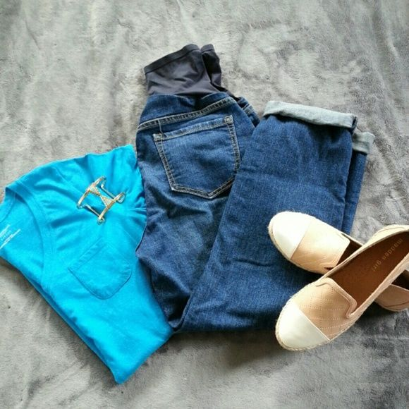 Maternity boyfriend jeans Wardrobe must have for any mom-to-be! Jeans Boyfriend