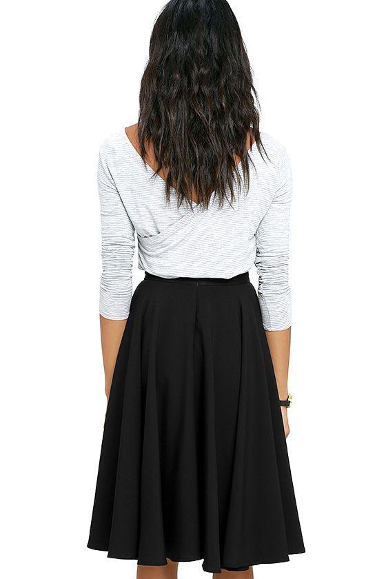 17 best ideas about Black Midi Skirt on Pinterest   Pleated skirt ...