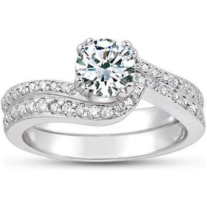 Platinum Seacrest with Diamond Accents Matched Set (1/3 ct.wt.) from Brilliant Earth