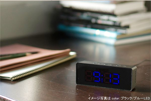 【楽天市場】【販売終了】IDEA イデア電波LEDミニクロック(ホワイト/ホワイトLED)LCR107-WH/WH 置き時計(電波 LED):グッドデザインのグデザ