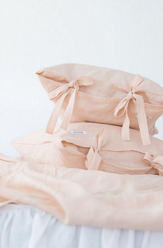 Peach Linen Bedding | Etsy