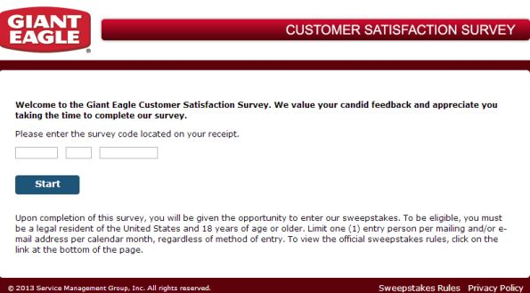 Giant Eagle Customer Satisfaction Survey, wwwgianteaglelistens - satisfaction survey