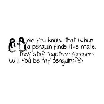 ...and that is why me and my boyf's animal peg = PENGUINS