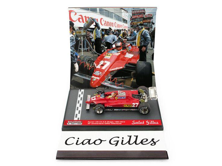 """S12/52 ( Serie Limitata 1000 pezzi ) Ferrari 126C2 turbo G.P. Belgio, Zolder 1982 Gilles Villeneuve #27 """"L'ultimo giro"""" - """"last lap"""" 30° anniversario 1982-2012 prezzo al pubblico suggerito Euro 35,00 http://www.brumm.it/27"""