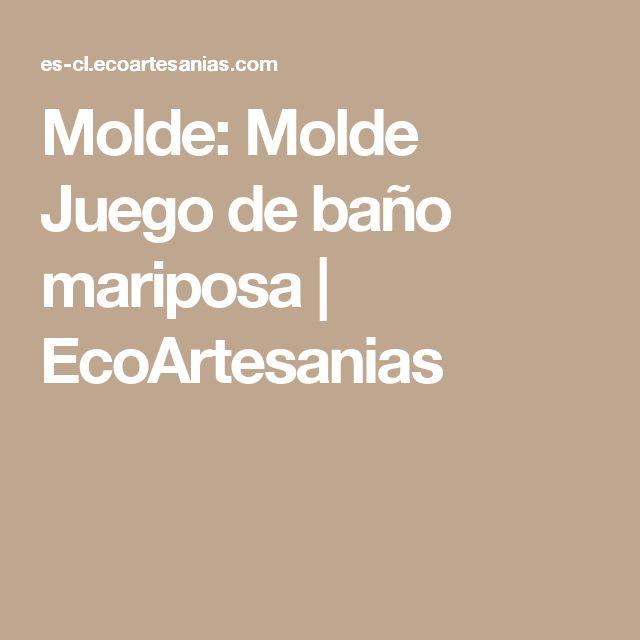 Molde: Molde Juego de baño mariposa | EcoArtesanias
