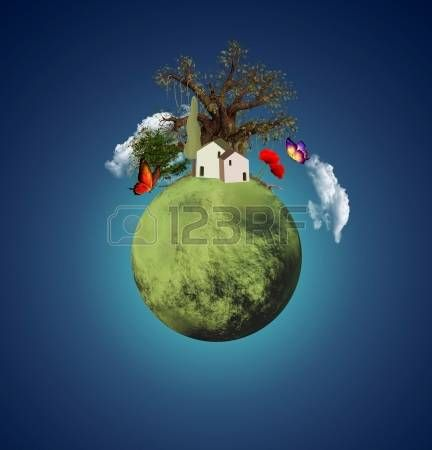 Green lovely planet photo