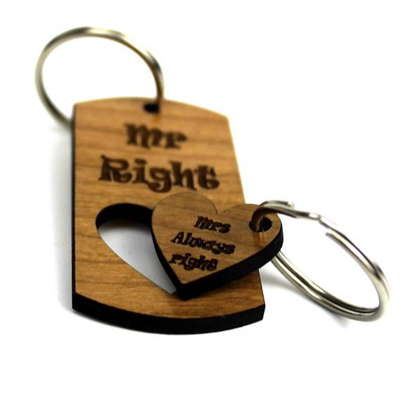 Mrs always right - mr right mrs always right-Couple Keyring-valentines day gift for him-valentines day gift-valentines day gift for husband    £5.99+