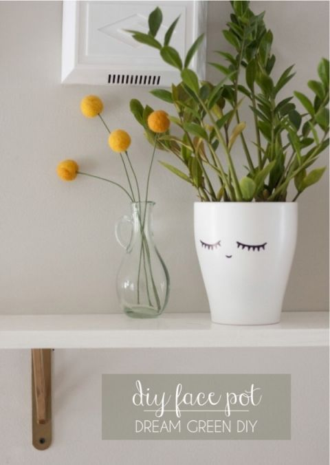 This cute little sharpie crafts give some character to your potted plants.