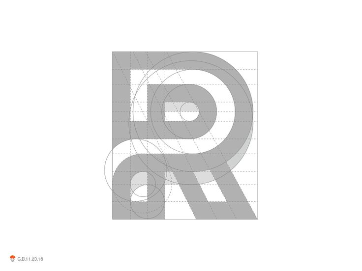 R Grid by George Bokhua #Design Popular #Dribbble #shots