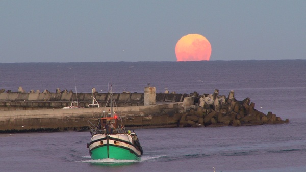 "AAAH, there's no place like home! Wow! ""here is #Gansbaai at full moon for #FriFotos"" by @Grootbos"