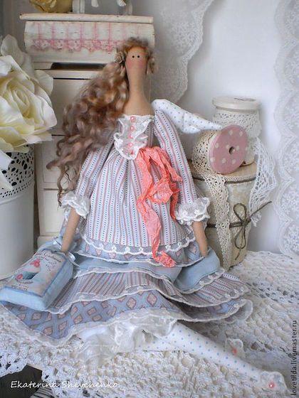 Tilda muñecas hechas a mano.  Masters Feria - Celeste hecho a mano - Estilo Ángel Tilda.  Hecho a mano.