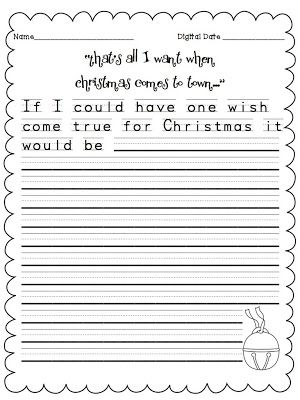 FREE!!!! Writing prompts to go along with the Polar Express!