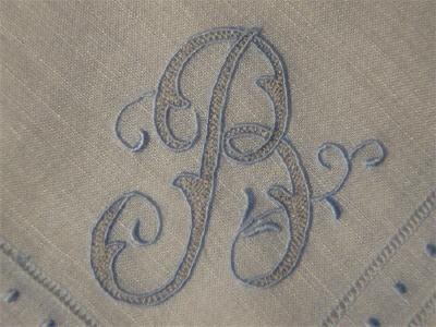 Antique Irish Linen Monogram
