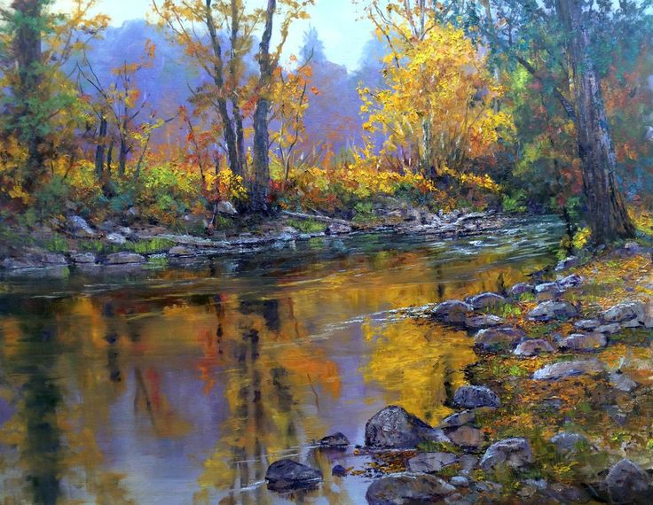"""Christmas Day, Coyote Creek"", 22x28, oil on canvas."