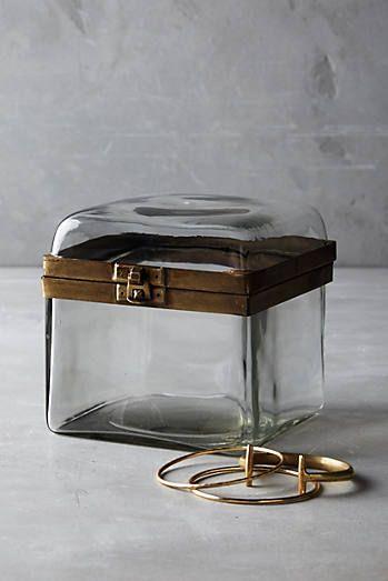 Boîte à bijoux en verre fumé